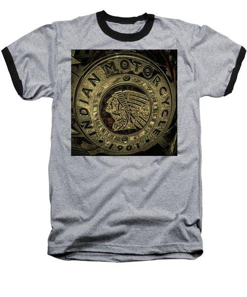 Indian Motorcycle Logo Baseball T-Shirt by David Patterson