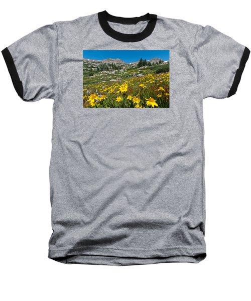 Indian Peaks Summer Wildflowers Baseball T-Shirt