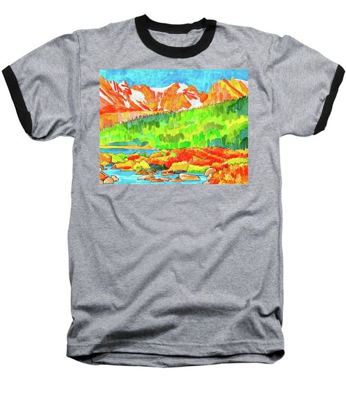 Indian Peaks Wilderness Baseball T-Shirt