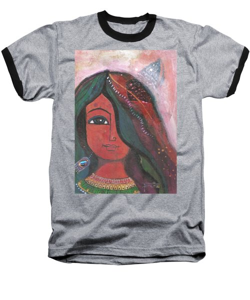 Indian Rajasthani Woman Baseball T-Shirt