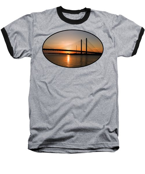 Indian River Bridge Sunset Reflections Baseball T-Shirt