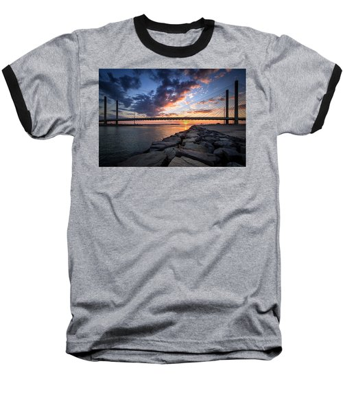 Indian River Inlet And Bay Sunset Baseball T-Shirt