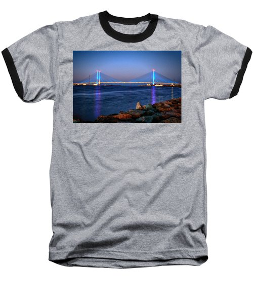 Indian River Inlet Bridge Twilight Baseball T-Shirt