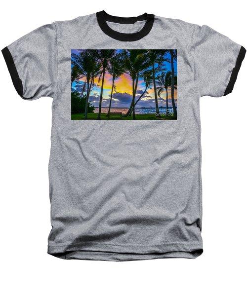 Indian River Sunrise Baseball T-Shirt by Tom Claud