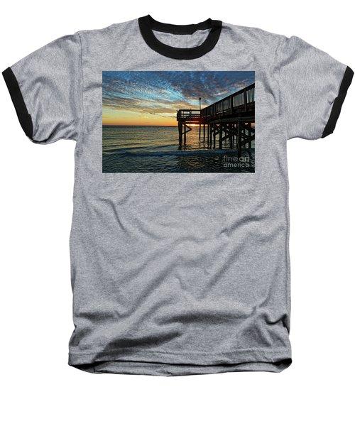 Indian Rocks Sunset Baseball T-Shirt by Paul Mashburn