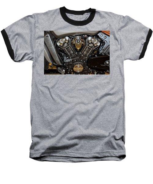 Indian Scout Engine Baseball T-Shirt