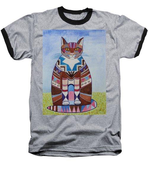 Indian Squirrel Cat Baseball T-Shirt