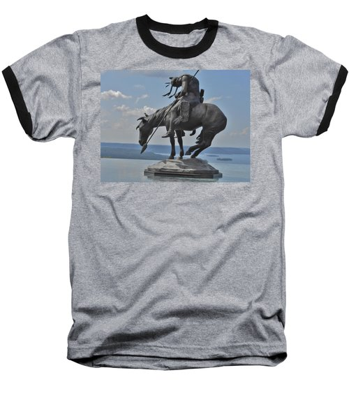 Indian Statue Infinity Pool Baseball T-Shirt by Julie Grace