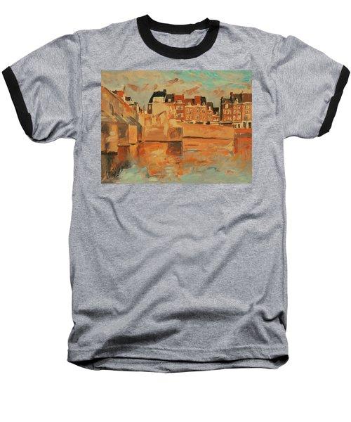 Indian Summer Sunday Sunset Baseball T-Shirt