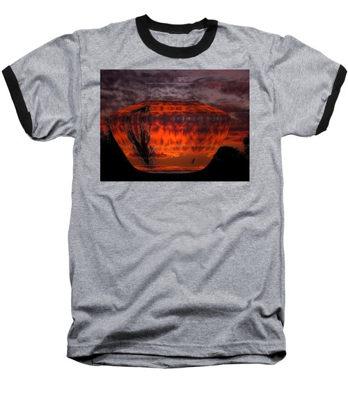 Baseball T-Shirt featuring the photograph Indian Summer Sunrise by Joyce Dickens