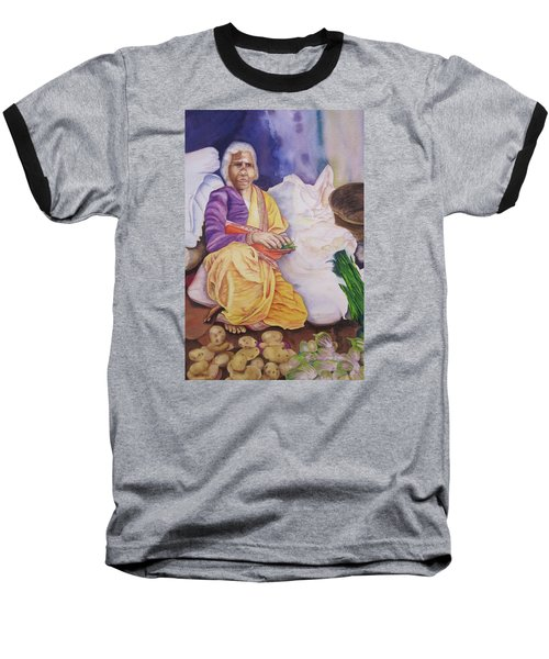 Indian Woman At Market IIi Baseball T-Shirt