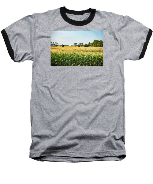 Indiana Corn Field Baseball T-Shirt