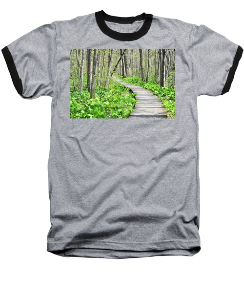 Indiana Dunes Great Green Marsh Boardwalk Baseball T-Shirt