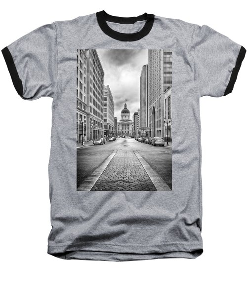 Baseball T-Shirt featuring the photograph Indiana State Capitol Building by Howard Salmon