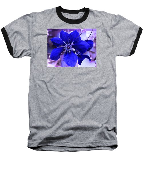 Baseball T-Shirt featuring the photograph Indigo Flower by Milena Ilieva