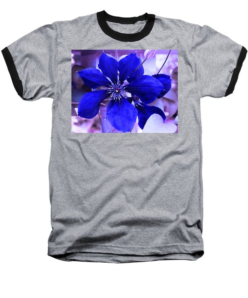 Indigo Flower Baseball T-Shirt