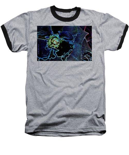 Indigo Neon Rose Baseball T-Shirt
