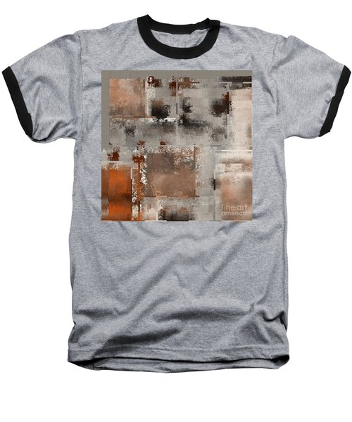 Industrial Abstract - 01t02 Baseball T-Shirt by Variance Collections