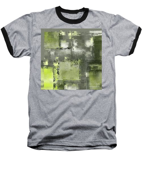 Industrial Abstract - 11t Baseball T-Shirt by Variance Collections