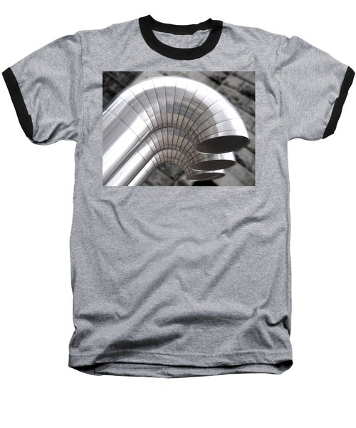 Industrial Air Ducts Baseball T-Shirt by Henri Irizarri