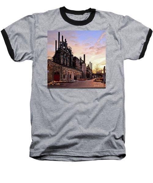 Industrial Landmark Baseball T-Shirt by DJ Florek