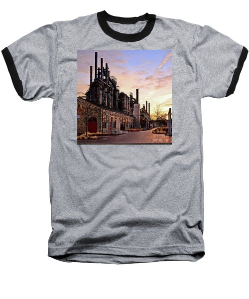 Industrial Landmark Baseball T-Shirt
