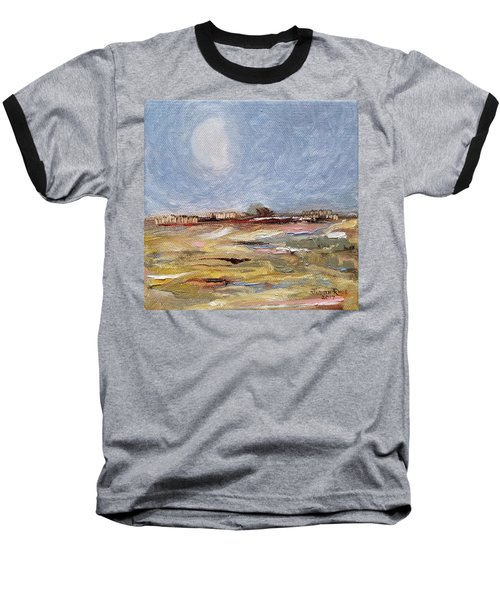 Baseball T-Shirt featuring the painting Inevitable Epoch by Judith Rhue