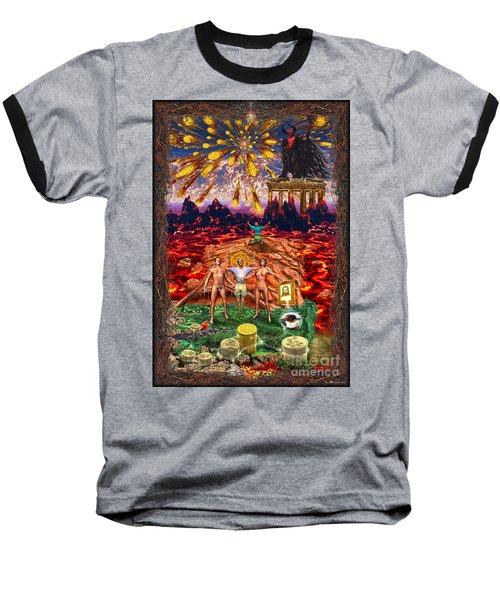 Inferno Of Messages Baseball T-Shirt