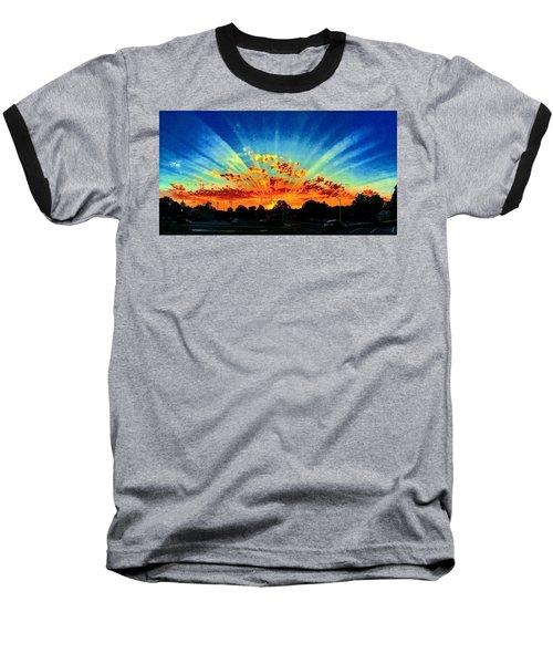 Infinite Rays From An Otherworldly Sunset Baseball T-Shirt