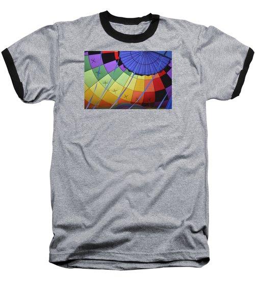 Inflation Time Baseball T-Shirt by Linda Geiger