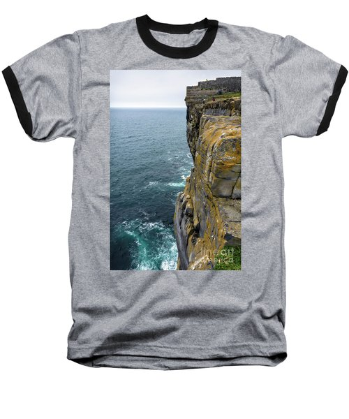 Baseball T-Shirt featuring the photograph Inishmore Cliff And Dun Aengus  by RicardMN Photography