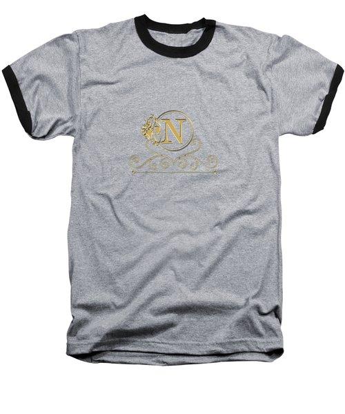 Initial N Baseball T-Shirt