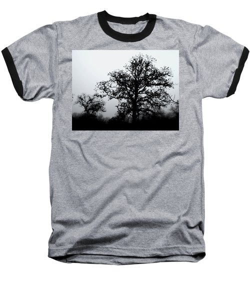 Baseball T-Shirt featuring the photograph Ink And Photo Study Of Live Oaks by Carolina Liechtenstein