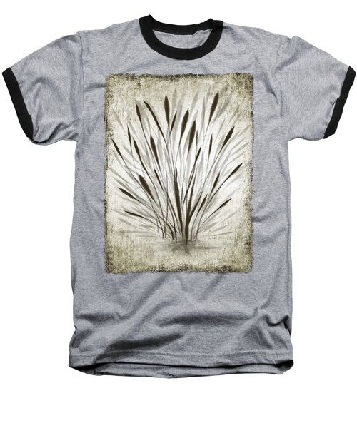 Baseball T-Shirt featuring the drawing Ink Grass by Ivana Westin