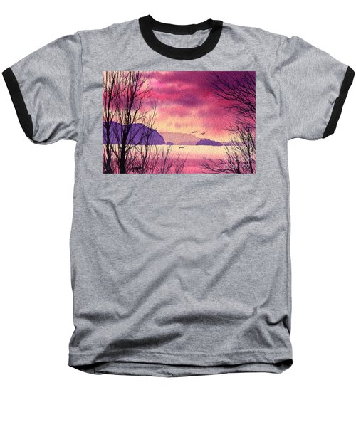 Baseball T-Shirt featuring the painting Inland Sea Islands by James Williamson