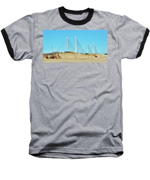Inlet Bridge Beach View Baseball T-Shirt
