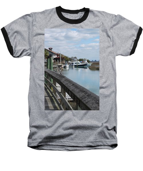 Inlet Fishing Fleet Baseball T-Shirt