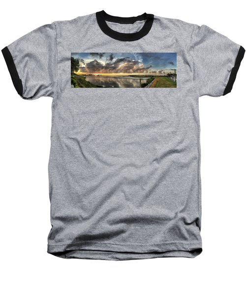 Inlet Sunrise Panorama Baseball T-Shirt