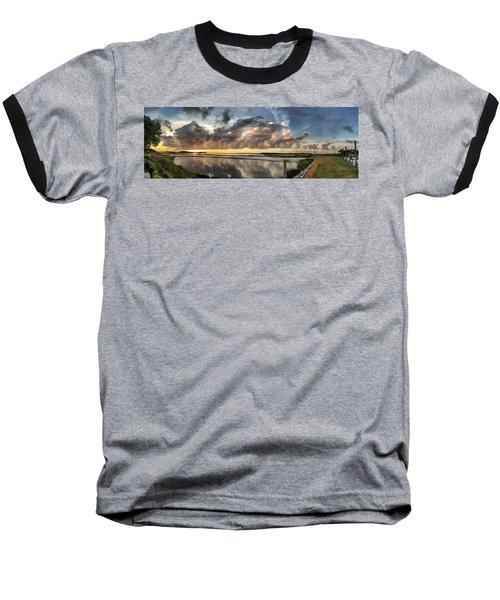 Inlet Sunrise Panorama Baseball T-Shirt