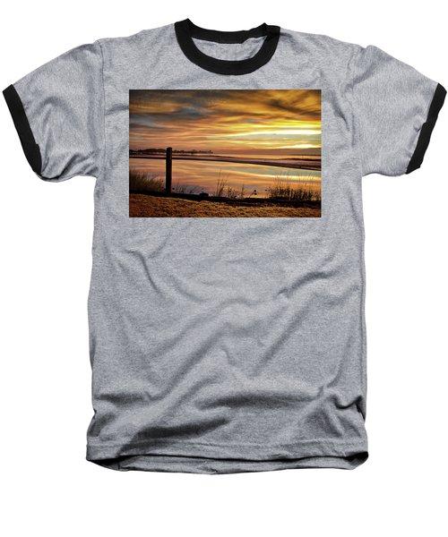 Inlet Watch At Dawn Baseball T-Shirt by Phil Mancuso
