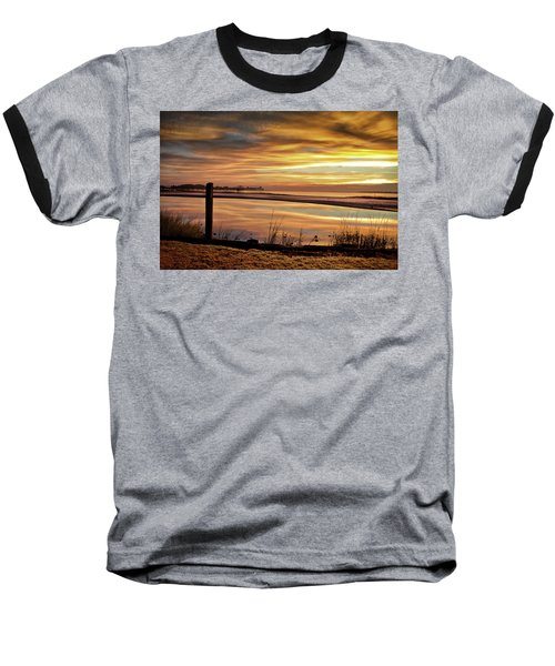 Inlet Watch At Dawn Baseball T-Shirt