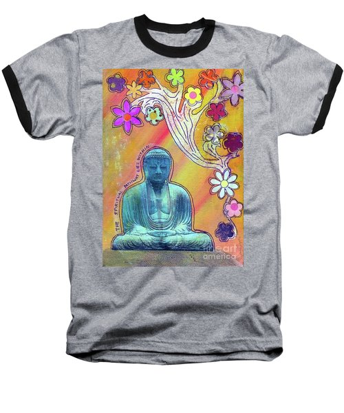 Baseball T-Shirt featuring the mixed media Inner Bliss by Desiree Paquette