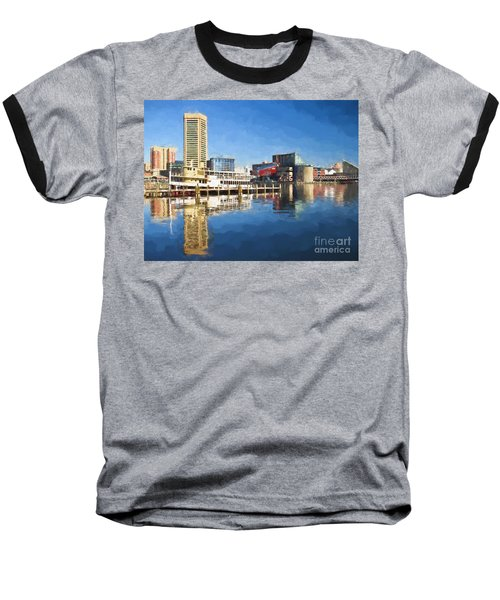 Inner Harbor Reflections  Baseball T-Shirt