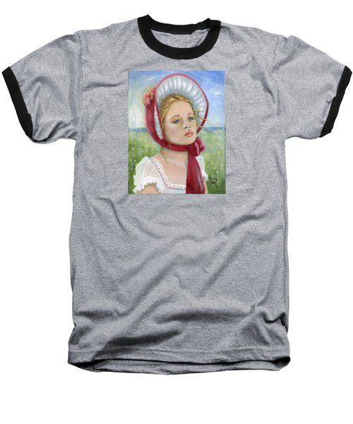 Baseball T-Shirt featuring the painting Innocence by Terry Webb Harshman