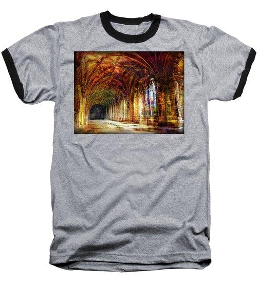 Inside 2 - Transit Baseball T-Shirt by Alfredo Gonzalez