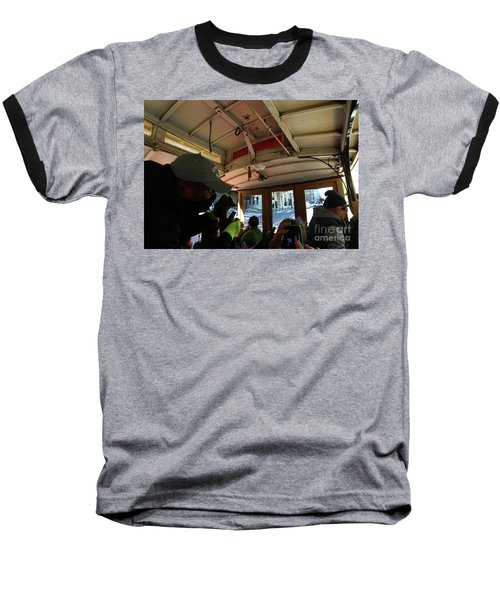 Baseball T-Shirt featuring the photograph Inside A Cable Car by Steven Spak