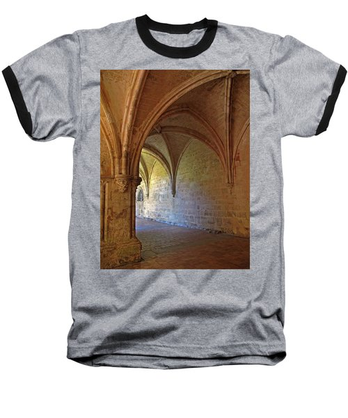Inside A Monastery Dordogne France  Baseball T-Shirt by Dave Mills