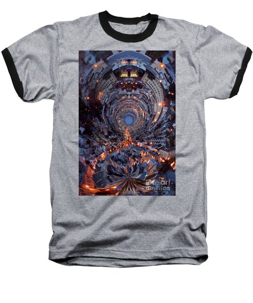 Inside A Space Station To The Galaxy Far Baseball T-Shirt by Wernher Krutein