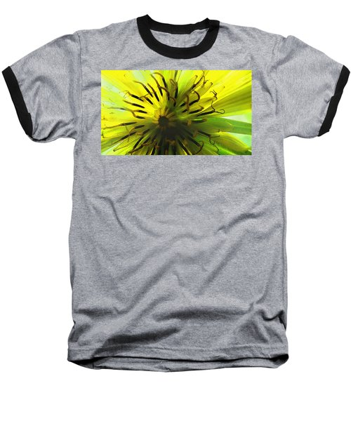 Inside A Yellow Goatsbeard  Baseball T-Shirt