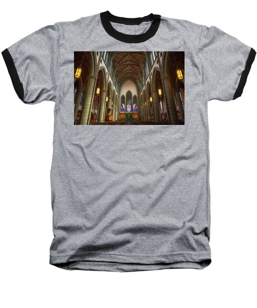 Inside Christchurch Cathedral Baseball T-Shirt by Keith Boone